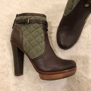 BCBG Max Azria Kingston Brown Leather Boots 7.5